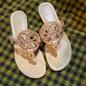 Tory Burch Miller Sandals Makeup 💄 Nude Size 6.5